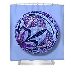 Mosaic Orb 1 Shower Curtain by Tony Rubino