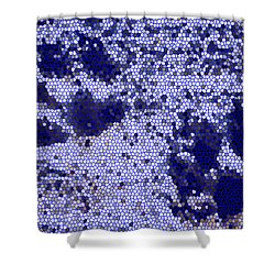 Mosaic Pawprints Shower Curtain
