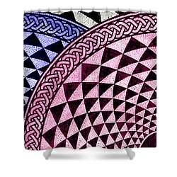 Mosaic Quarter Circle Top Left  Shower Curtain by Tony Rubino