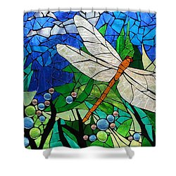 Mosaic Stained Glass Golden Brown Dragonfly Glass Art By Catherine Van Der Woerd
