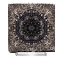 Mosaic Tile / Gray Tones Shower Curtain by Elizabeth McTaggart