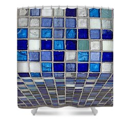 Mosaic Tile Shower Curtain by Tony Cordoza