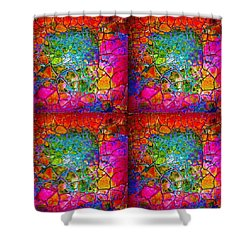 Mosaic Times Four Shower Curtain