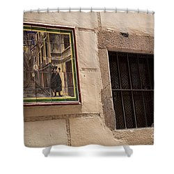 Mosaic Window Shower Curtain by Rene Triay Photography