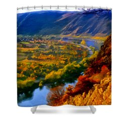 Mosel In The Fall Shower Curtain by Michael Pickett