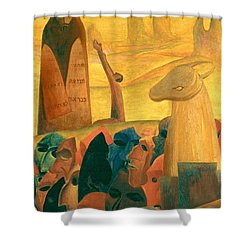 Moses And The Masks Shower Curtain