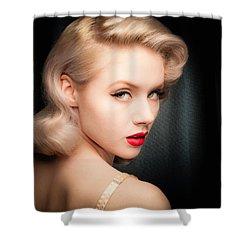 Mosh Portrait  Shower Curtain by Gary Heller