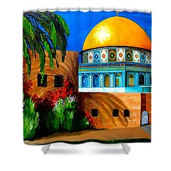 Mosque - Dome Of The Rock Shower Curtain