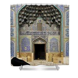 Mosque Door In Isfahan Esfahan Iran Shower Curtain