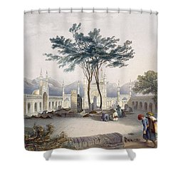 Mosque Of Goolaum Hoossein Huzrut-jee Shower Curtain by James Rattray