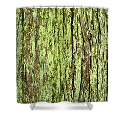 Moss On Tree Bark Shower Curtain