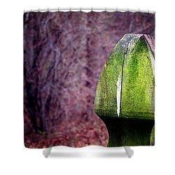 Mossy Post Shower Curtain