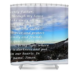 Most Powerful Prayer With Winter Scene Shower Curtain by Barbara Griffin