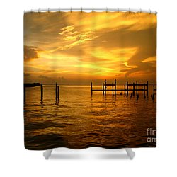 Most Venerable Sunset Shower Curtain by Kathy Bassett