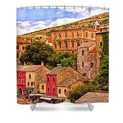 Mostar Shower Curtain by Michael Pickett