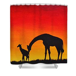 Shower Curtain featuring the painting Mother Africa 2 by Michael Cross