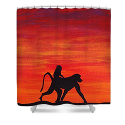 Shower Curtain featuring the painting Mother Africa 4 by Michael Cross