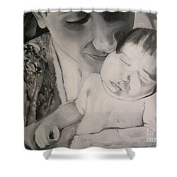 Mother And Child Shower Curtain by Carrie Maurer