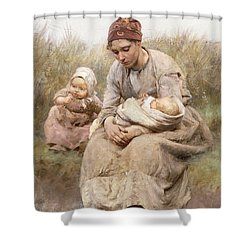 Mother And Child Shower Curtain by Robert McGregor