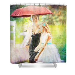 Mother And Daughter In The Garden Shower Curtain