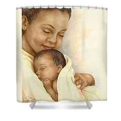 Mother Shower Curtain by Beverly Levi-Parker