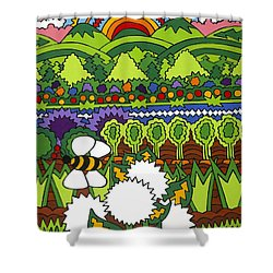 Mother Earth Shower Curtain by Rojax Art