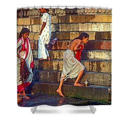 Mother Ganges Shower Curtain by Steve Harrington