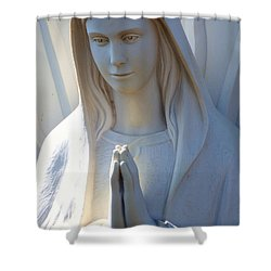Mother Mary Statue Shower Curtain by David G Paul