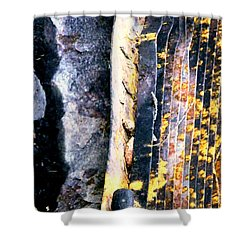 Mother Natures Aspen Abstract Art Shower Curtain
