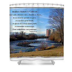 Shower Curtain featuring the photograph Mother Natures Canvas by Bobbee Rickard