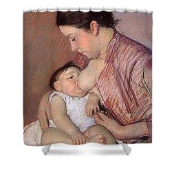 Motherhood Shower Curtain by Marry Cassatt