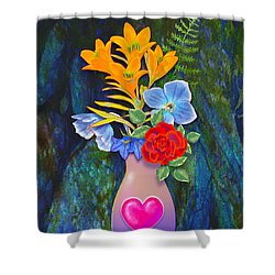 Mothers Day Bouquet Shower Curtain by Teresa Ascone