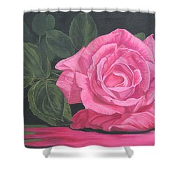 Mothers Day Rose Shower Curtain by Wendy Shoults