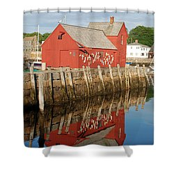 Shower Curtain featuring the photograph Motif 1 With Reflection by Richard Bryce and Family