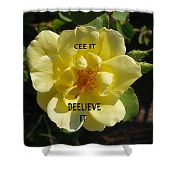 Shower Curtain featuring the photograph Motivational by Bob Sample