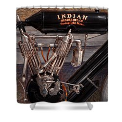 Motorcycle - An Oldie But A Goodie  Shower Curtain by Mike Savad