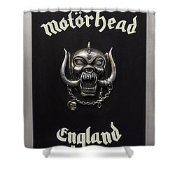 Motorhead England Shower Curtain by The Artist Project