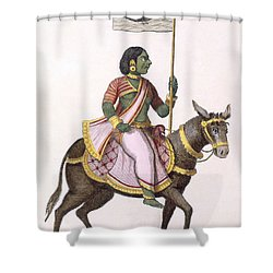 Moudevi, Goddess Of Discord And Misery Shower Curtain by Pierre Sonnerat