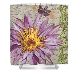 Moulin Floral 1 Shower Curtain by Debbie DeWitt