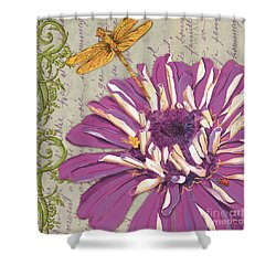 Moulin Floral 2 Shower Curtain by Debbie DeWitt