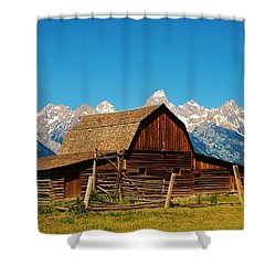 Moulton Barn Shower Curtain by Dany Lison