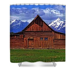 Moulton Barn In Spring Shower Curtain by Dan Sproul