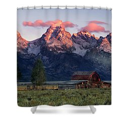 Shower Curtain featuring the photograph Moulton Barn by Leland D Howard