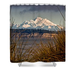 Mount Baker From Port Townsend Shower Curtain