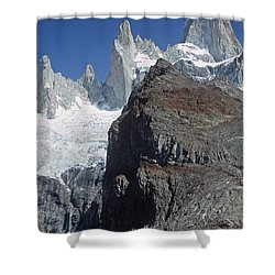Shower Curtain featuring the photograph Mount Fitzroy Patagonia by Rudi Prott