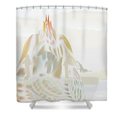 Shower Curtain featuring the digital art Mount Helm by Kevin McLaughlin