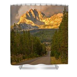 Mount Heyburn Shower Curtain by Robert Bales