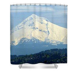 Mount Hood  Shower Curtain by Susan Garren