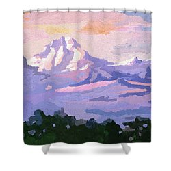 Mount Kenya At Dawn Shower Curtain