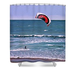 Mount Maunganui 160308 Shower Curtain by Sylvia Kula